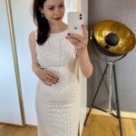 Biała sukienka z dżetami
