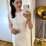 Biła sukienka z perłami
