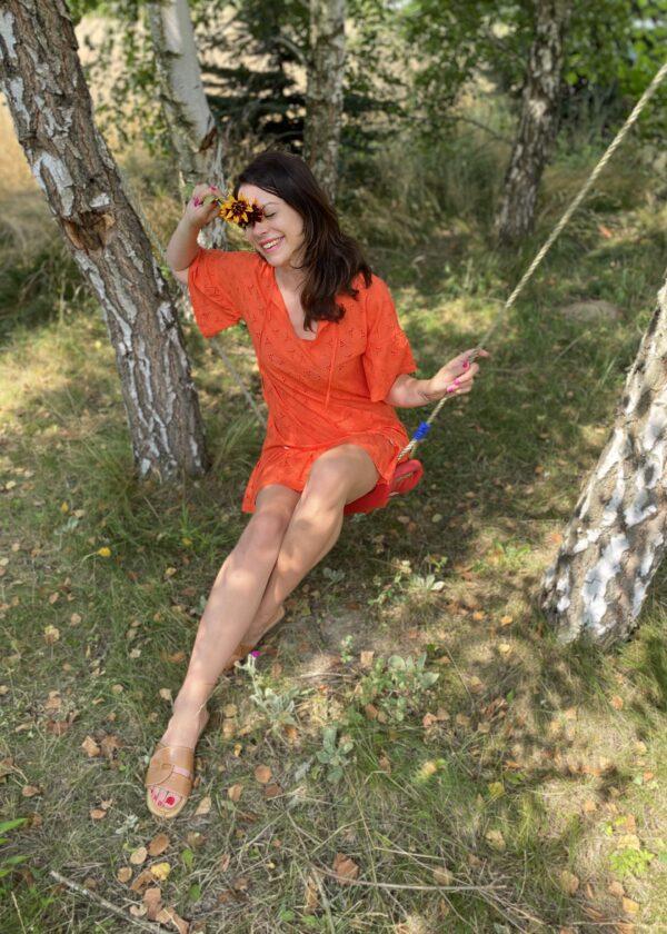 Zwiewna sukienka z falbaną Summer