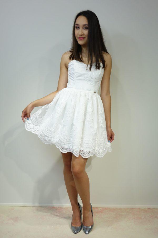 Gorsetowa koronkowa sukienka